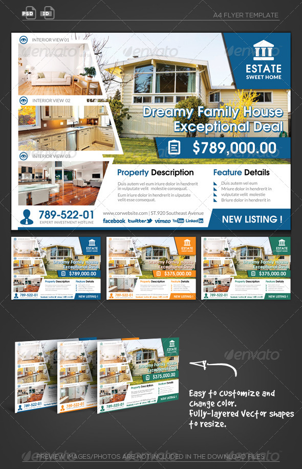 GraphicRiver Real Estate Business Flyer 5609612
