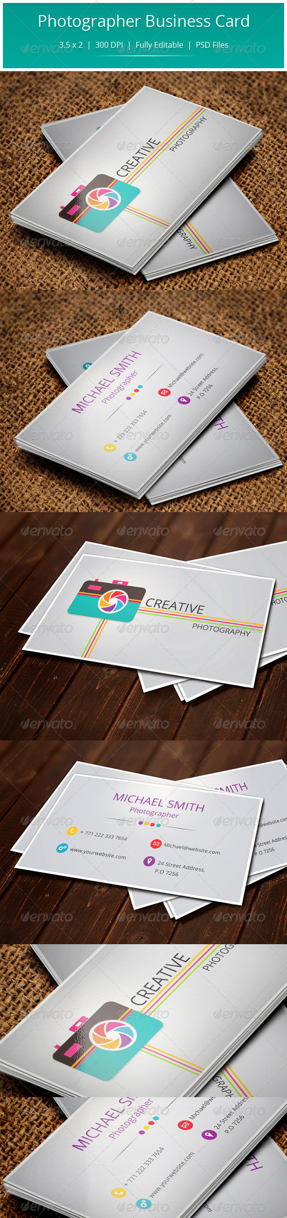 GraphicRiver Photographer Business Card 5610012