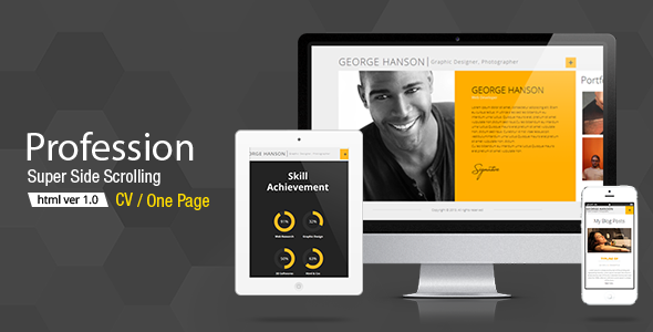ThemeForest Profession CV HTML Template 5610523