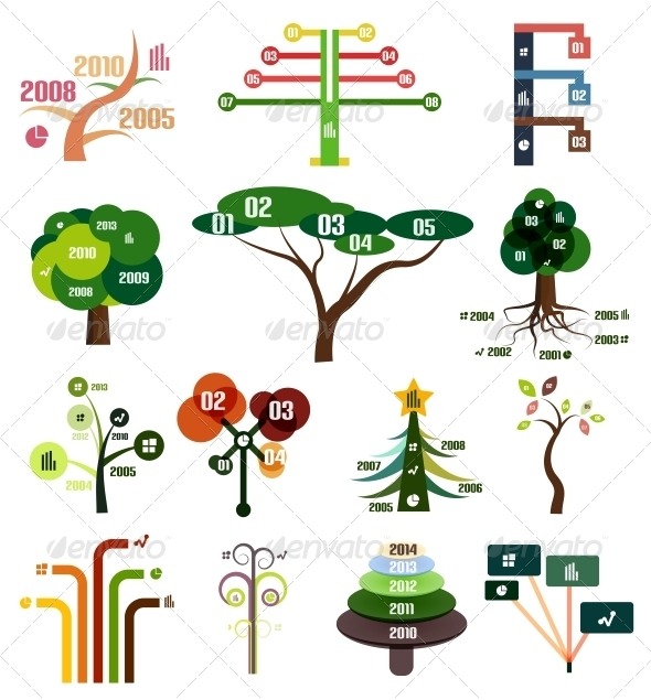 GraphicRiver Set of Tree Infographic Design Templates 5610734