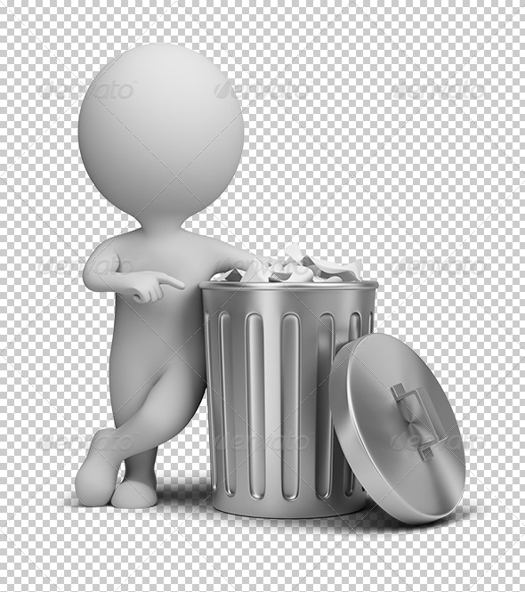GraphicRiver 3D small people trash can 5610761