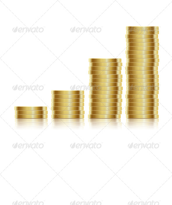 GraphicRiver Many Gold Coins 5610974