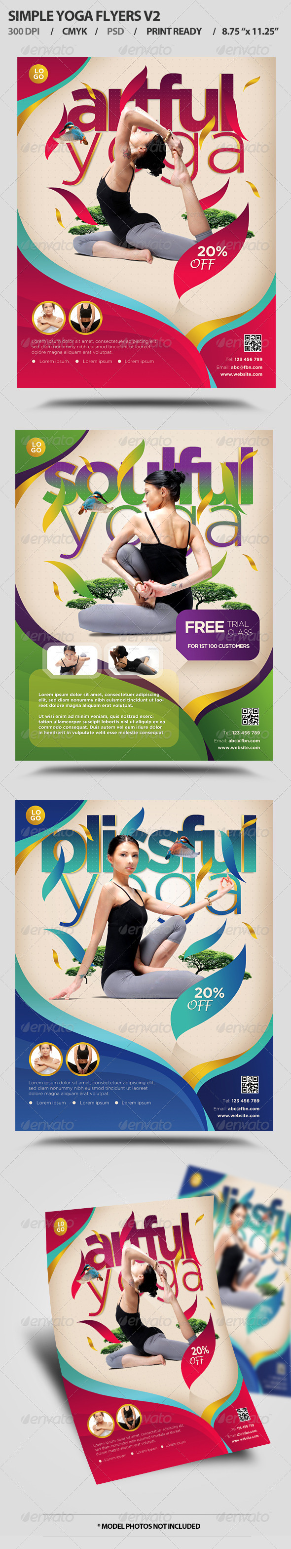 GraphicRiver Simple Yoga Flyers V2 5611122