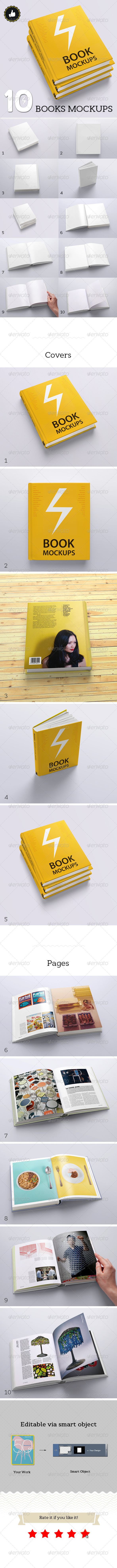 GraphicRiver Book Mockups 10 Different Images 5590767