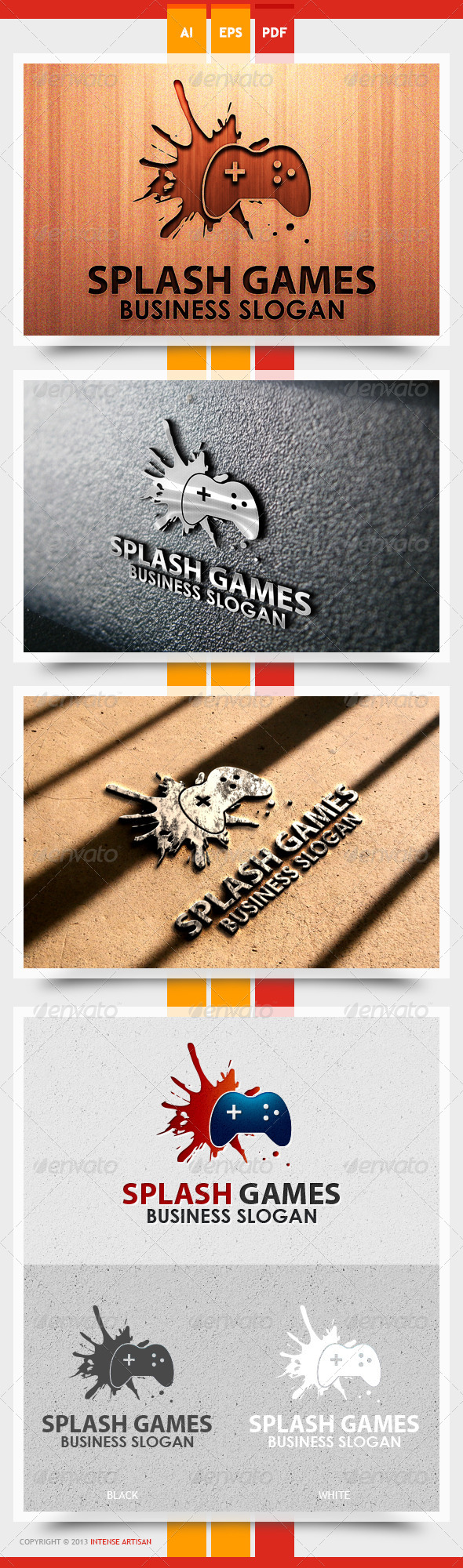 GraphicRiver Splash Games Logo Template 5611670