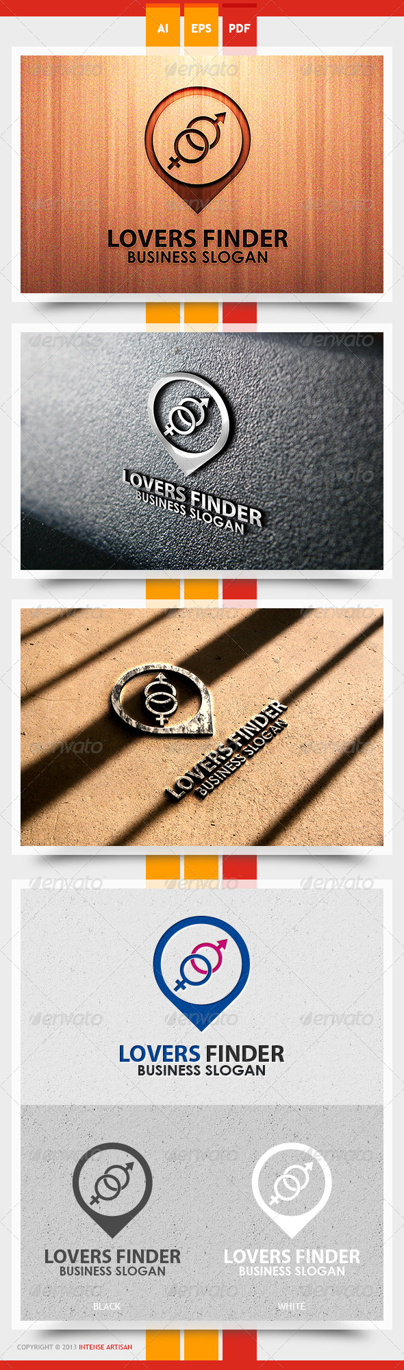 Lovers Finder Logo Template - Humans Logo Templates