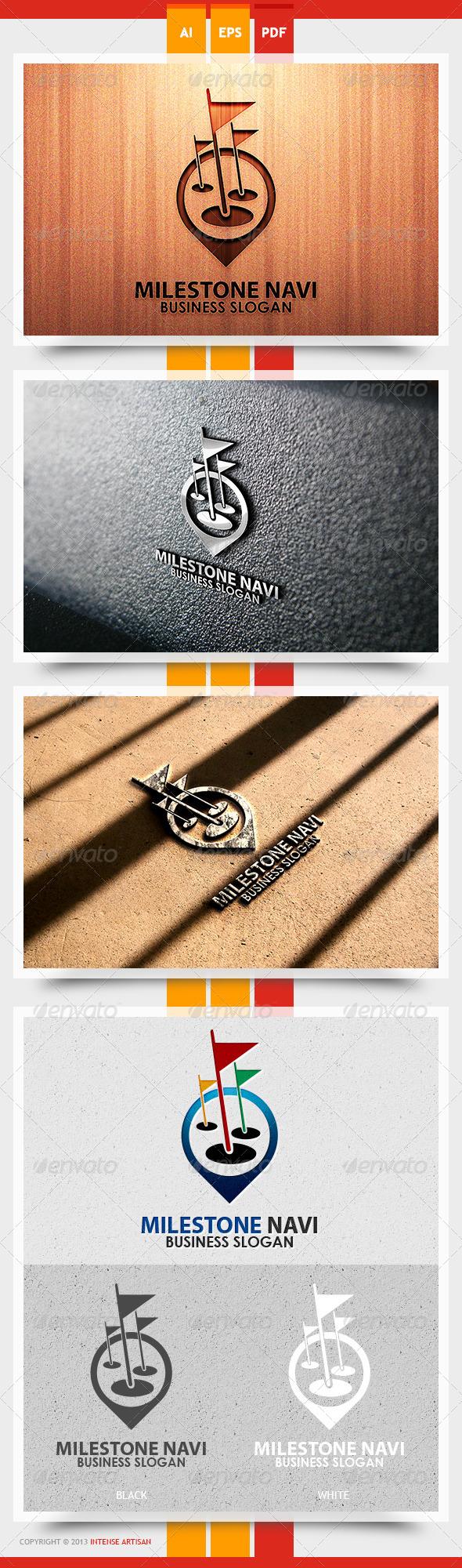 GraphicRiver Milestone Navi Logo Template 5612044