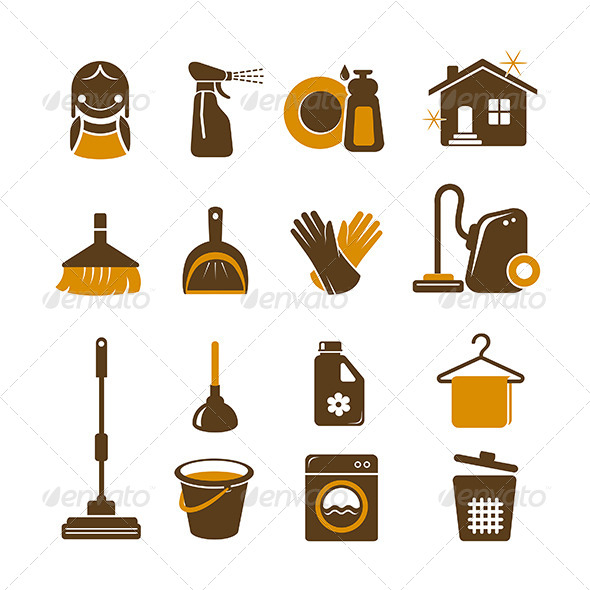 GraphicRiver Cleaning Icons Set 5612247