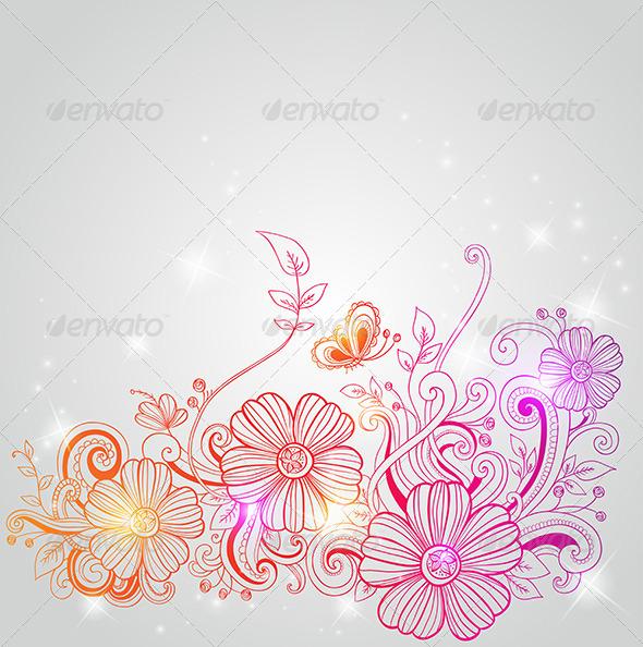 GraphicRiver Decorative Flowers 5612391