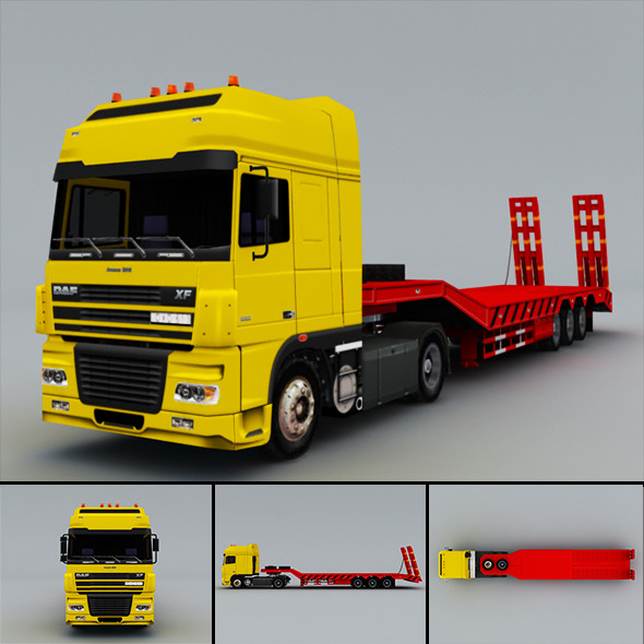 3DOcean DAF FX truck Low-Poly 5612607