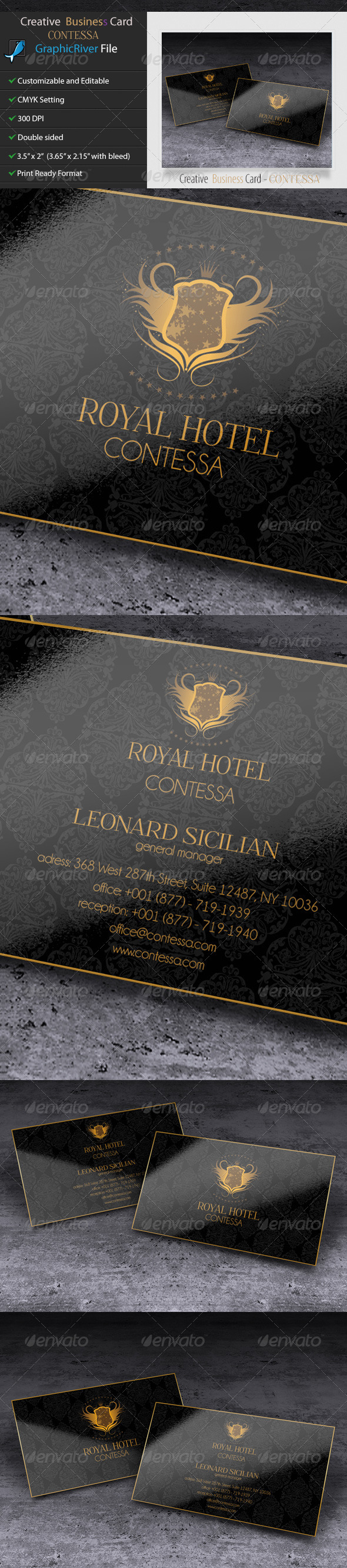 GraphicRiver Business Card Hotel Contessa 5613145