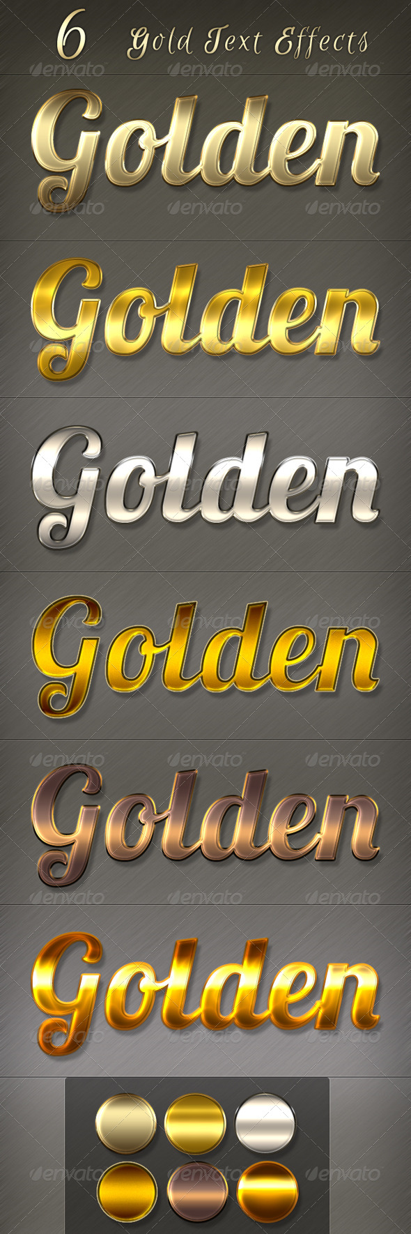 GraphicRiver Golden Text Styles 5613166