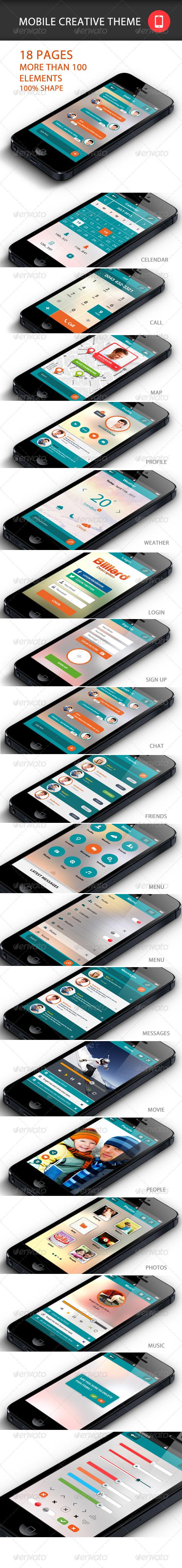 GraphicRiver Mobile Creative APP Theme 5614189