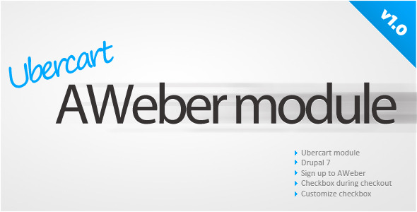 CodeCanyon Ubercart AWeber sign up 5615007
