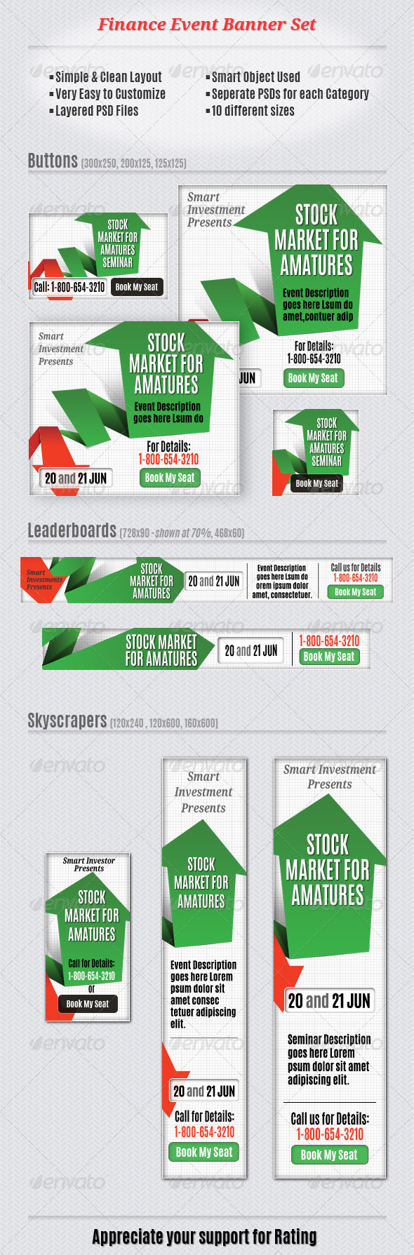 GraphicRiver Finance Event Banner Set 5615790