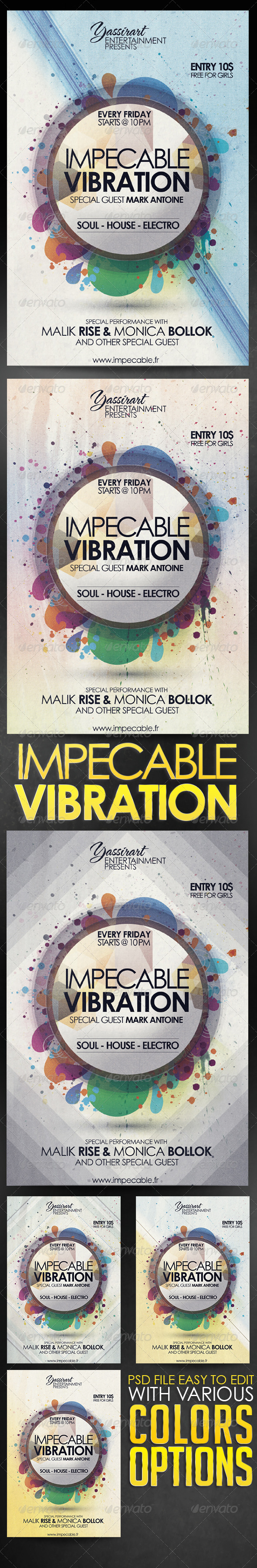 GraphicRiver Impecable Vibration Flyer Template 5615849