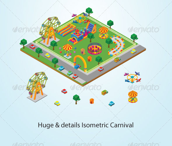 GraphicRiver Isometric Carnival 5616522