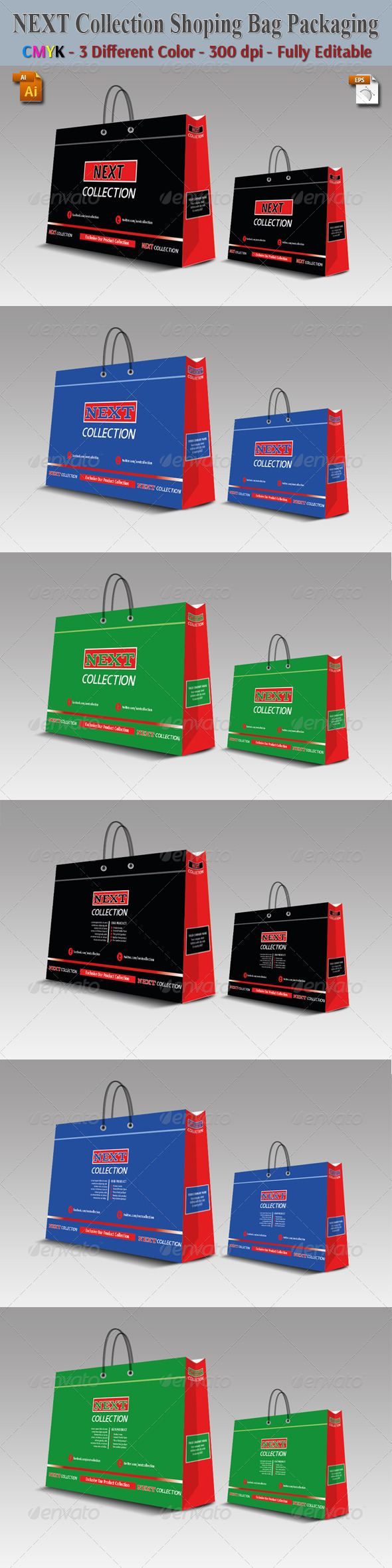 GraphicRiver Spacial Collection Shoping Bag Packaging 5616591