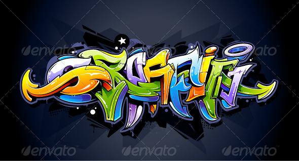 GraphicRiver Bright Graffiti Lettering 5617218