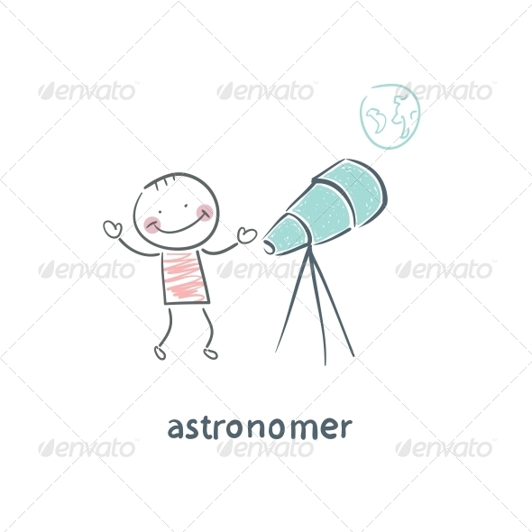 GraphicRiver Astronomer 5617334