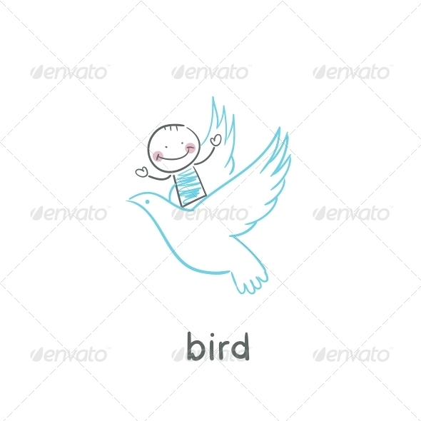 GraphicRiver Bird and Man 5617585