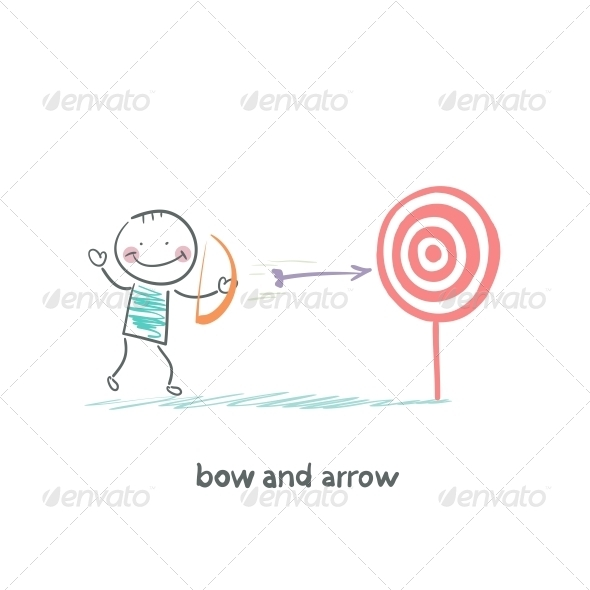GraphicRiver Bow and Arrow 5617693