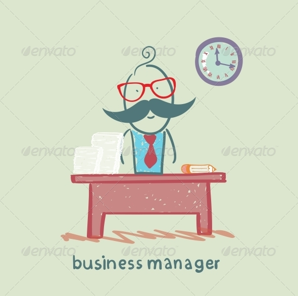 GraphicRiver Business Manager at his Workplace 5617957