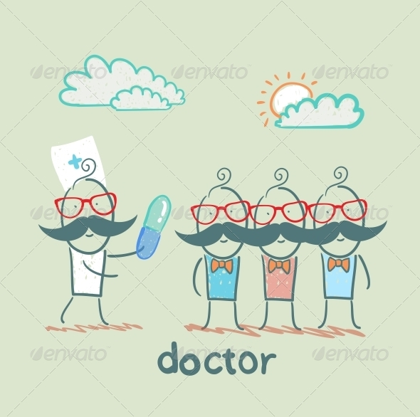 GraphicRiver Doctor Touts Pill People 5618338