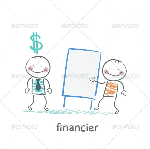 GraphicRiver Financier Hears a Presentation From a Man 5618799