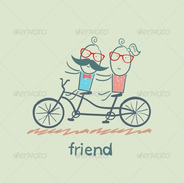 GraphicRiver Friend Riding Bike 5618902