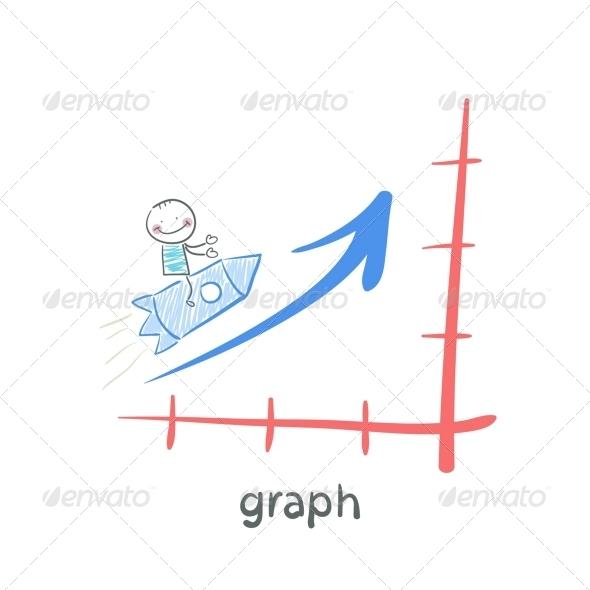 GraphicRiver Man on Rocket 5619055