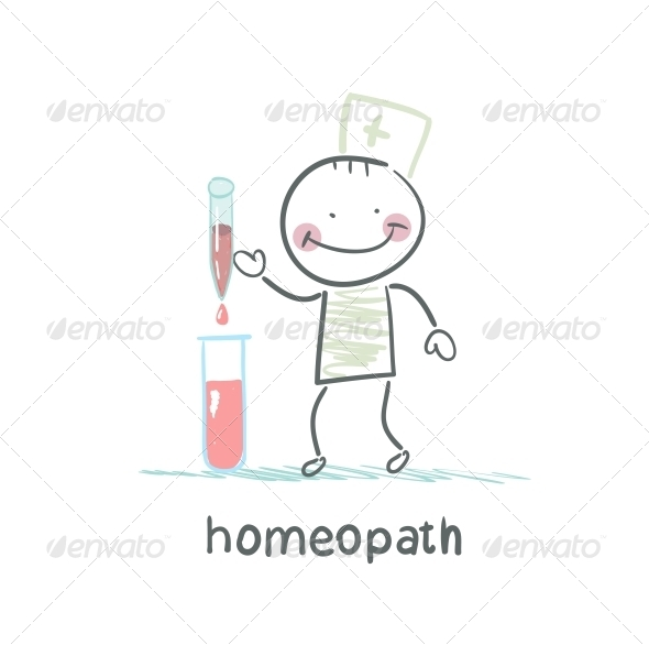 GraphicRiver Homeopath Medicine Prepared in Test Tubes 5619239