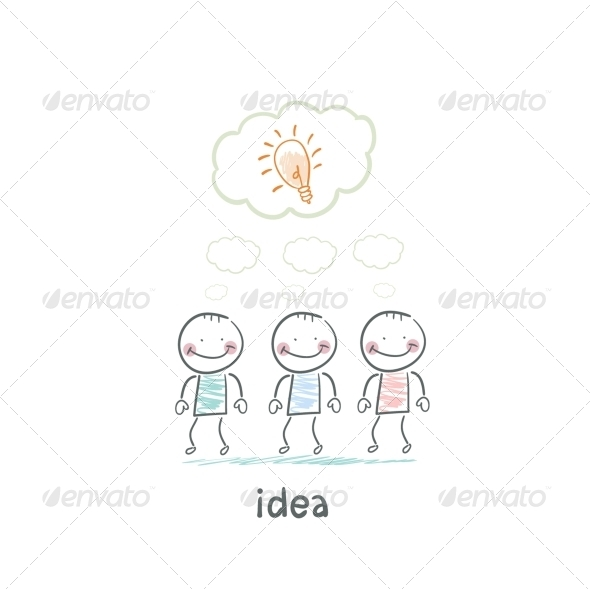 GraphicRiver Man and Idea 5619438