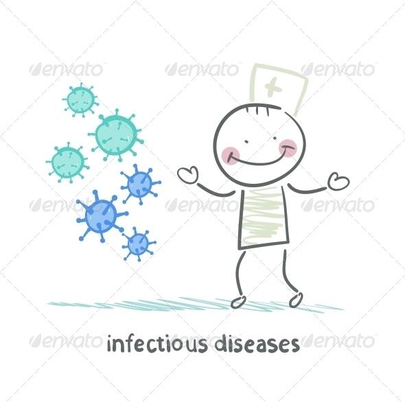 GraphicRiver Infectious Diseases Stands Next to Infection 5619549