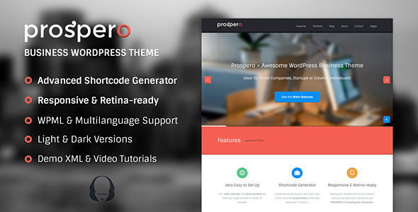 Prospero | Business WordPress Theme - Business Corporate