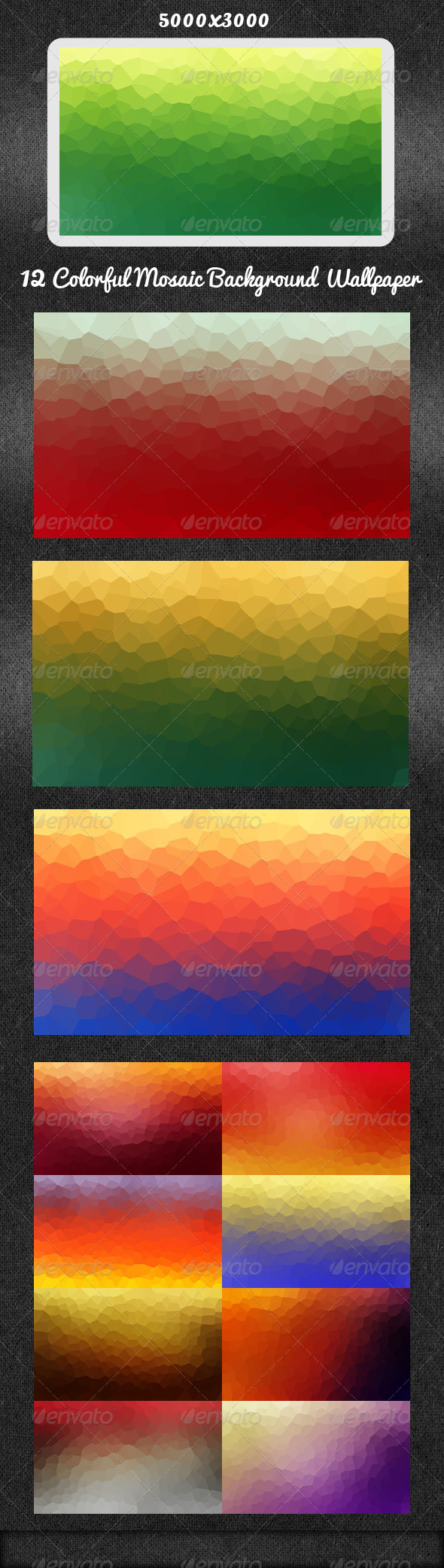 GraphicRiver 12 Mosaic Background Wallpaper 5585989