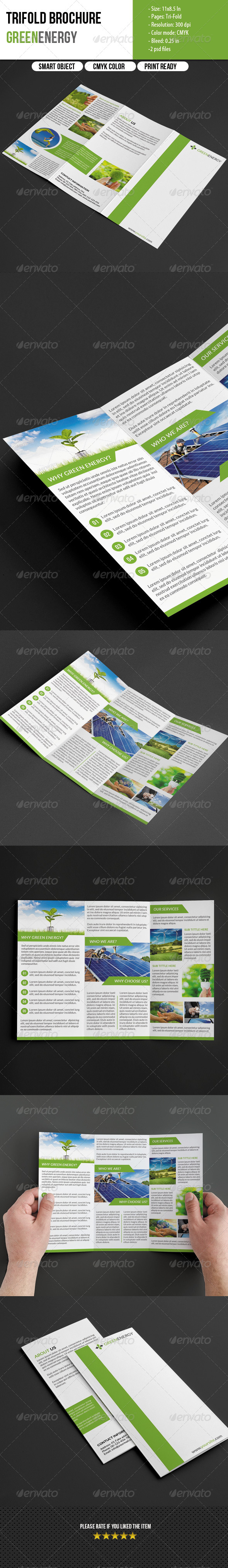 GraphicRiver Trifold Brochure for Green Energy 5621474
