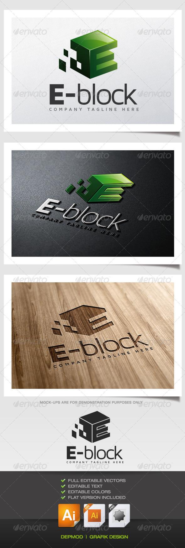 GraphicRiver E-Block Logo 5622021