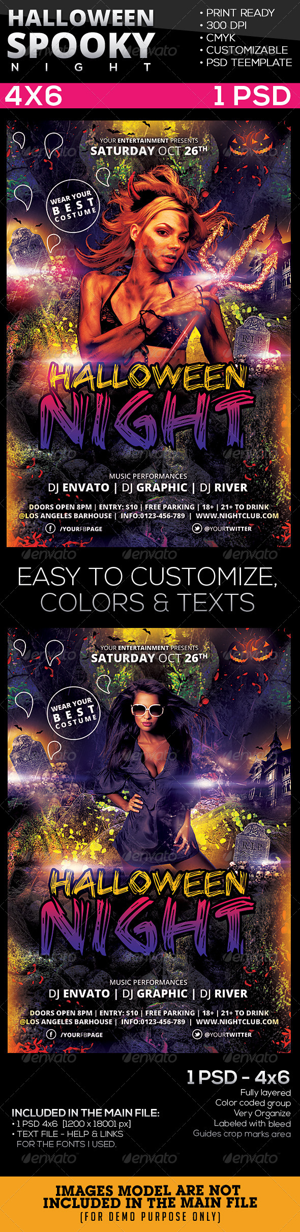 Spooky | Halloween Night Flyer Template - Holidays Events