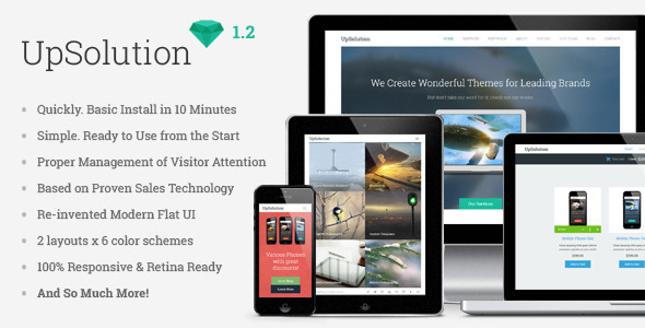 UpSolution - Marketing Responsive One Page Theme - Marketing Corporate