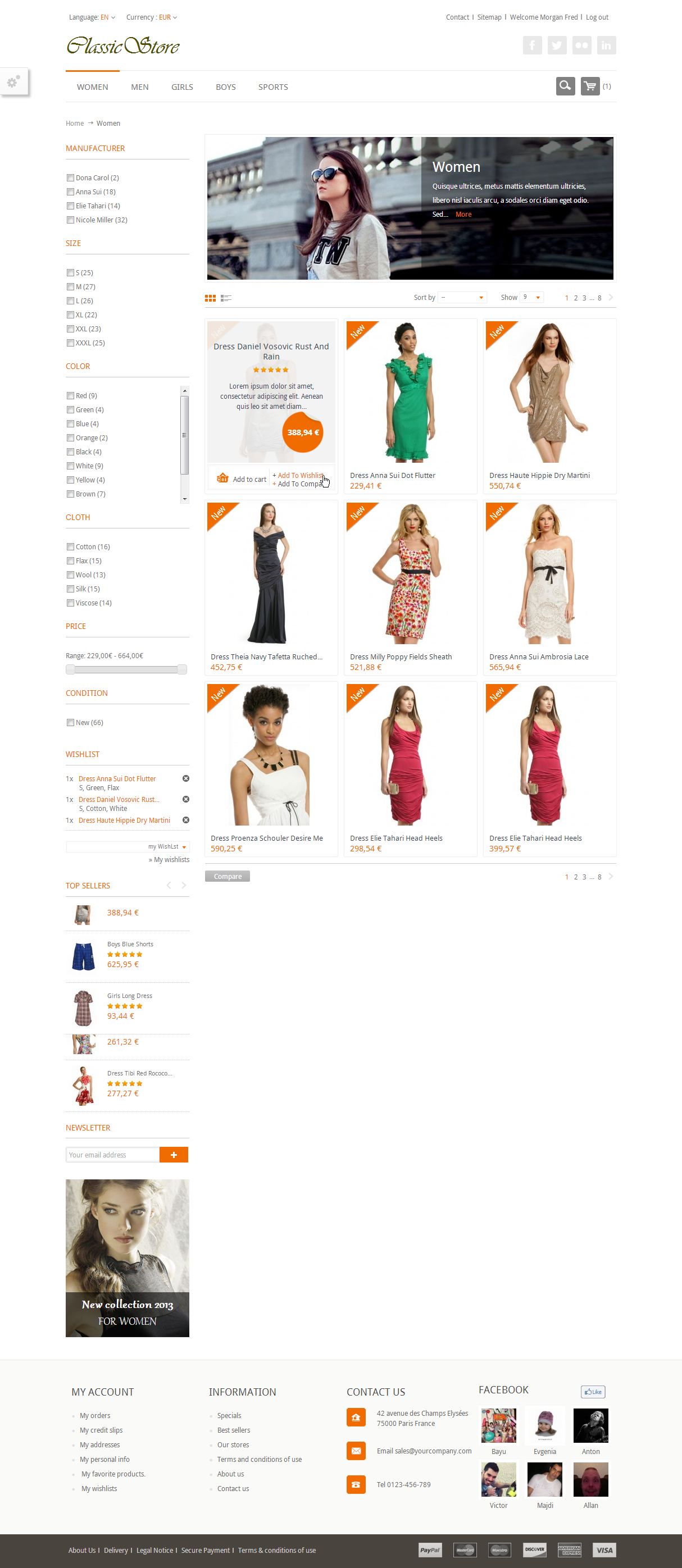 ClassicStore - Powerfull Prestashop theme