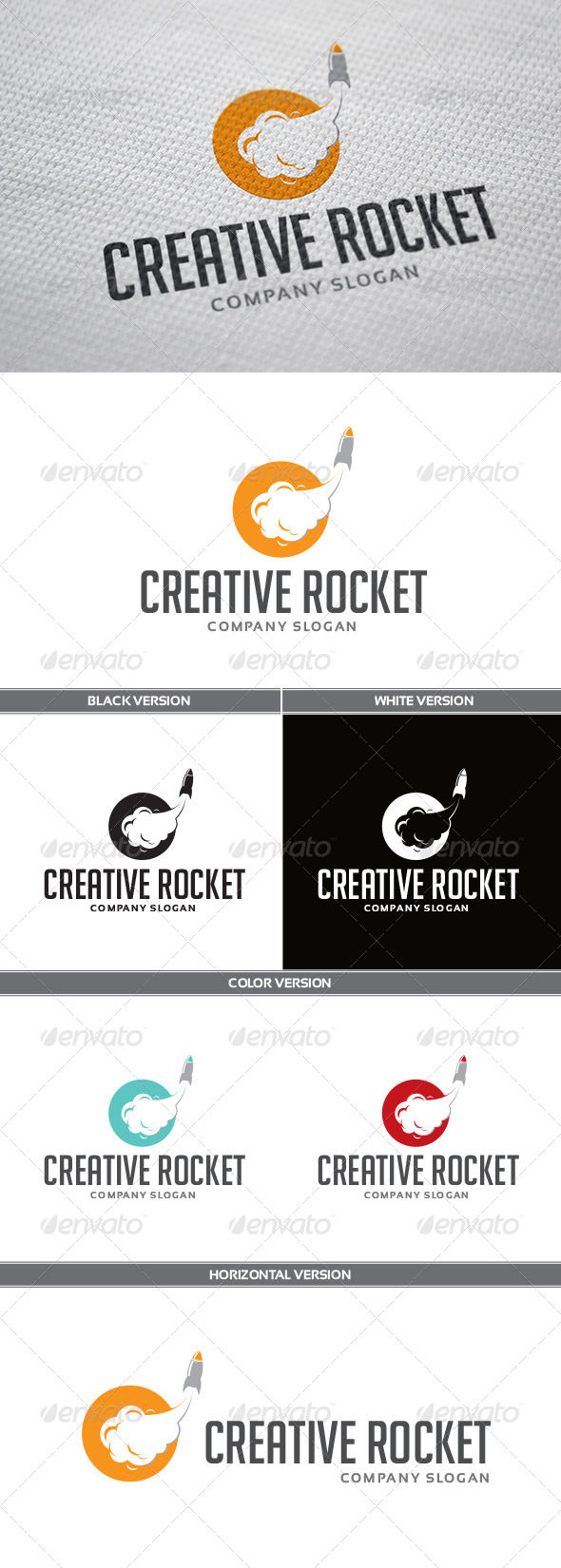 GraphicRiver Creative Rocket Logo 5624136