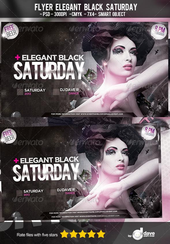 GraphicRiver Flyer Elegant Black Saturday 5572341