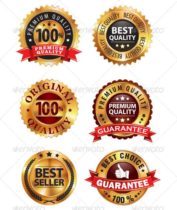 GraphicRiver Golden Badge 5625382