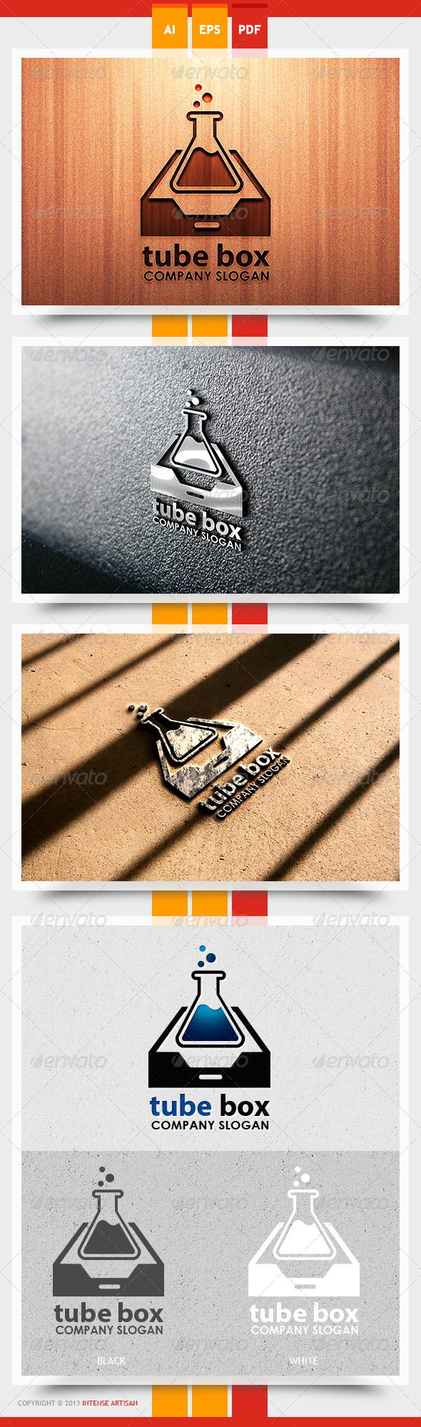 GraphicRiver Tube Box Logo Template 5625450