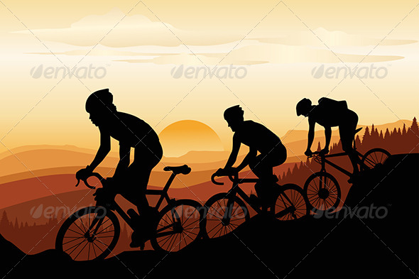 GraphicRiver Mountain Bikers 5625470