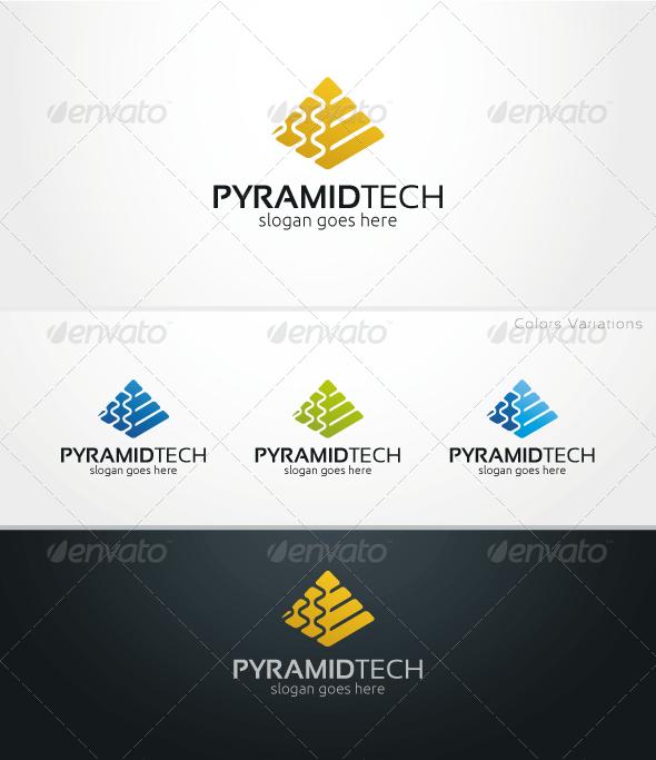 GraphicRiver PyramidTech Logo Template 5625613