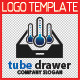 Tube Drawer Logo Template - GraphicRiver Item for Sale