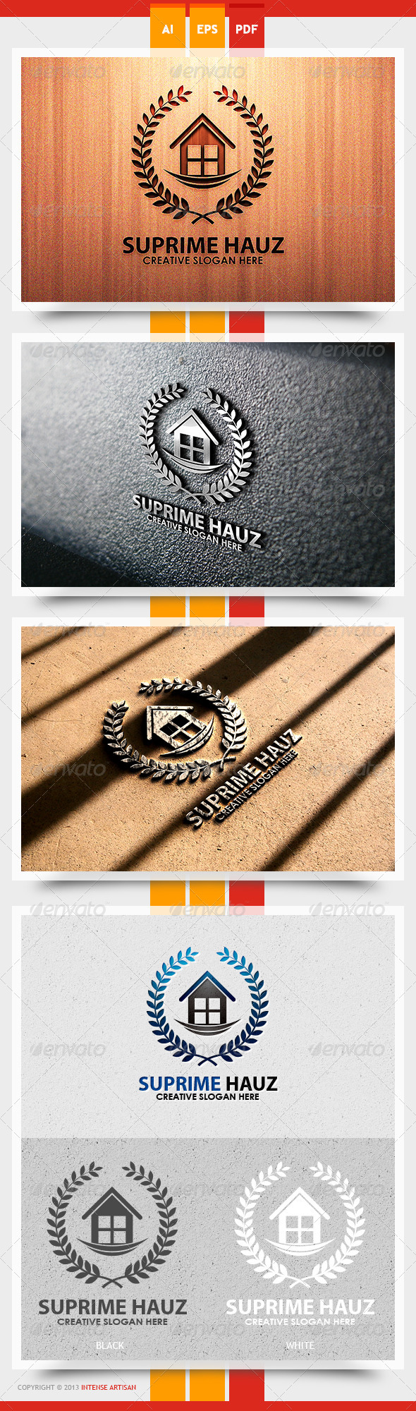 GraphicRiver Supreme Hauz Logo Template 5626326