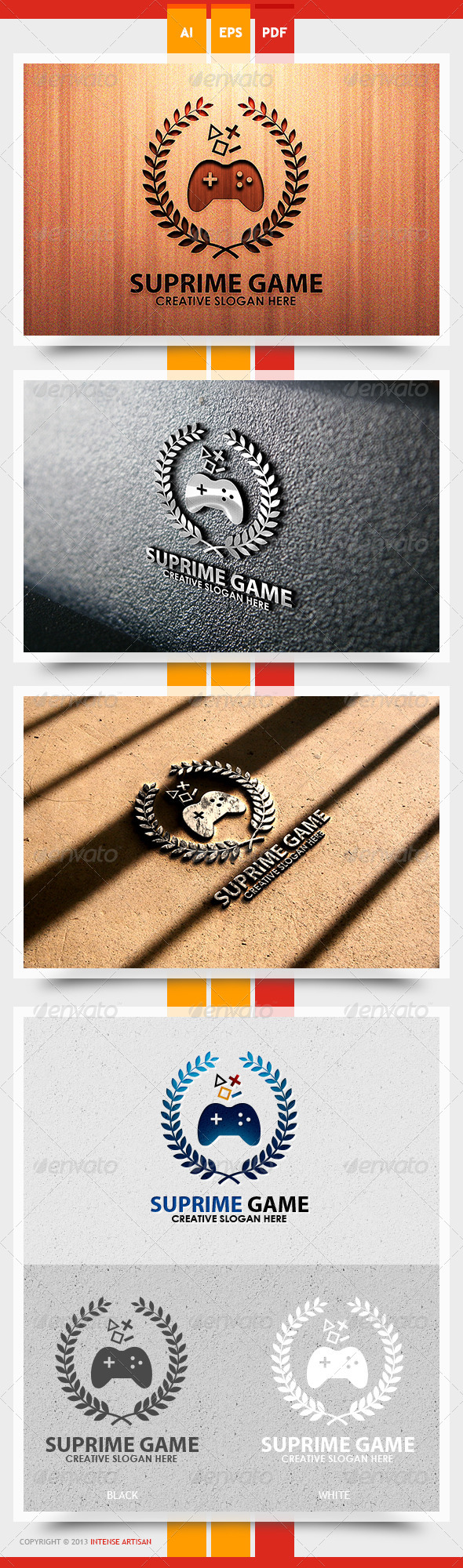 Supreme Game Logo Template - Objects Logo Templates